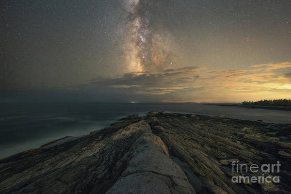 Wall Art - Photograph - Milky Way Rising Over Pemaquid Point by Michael Ver Sprill