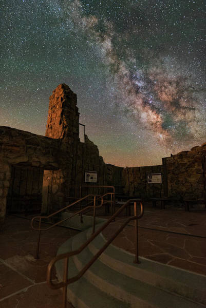 Milky Way Steps At The Crest House Ruins Art Print