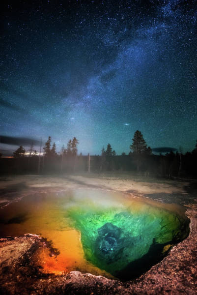 Photograph - Milky Way Thermal Pool by Darren White