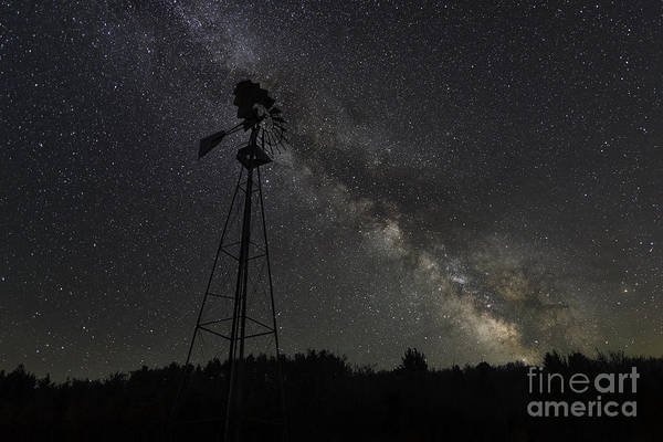 Germania Photograph - Milky Way Windmill  by Michael Ver Sprill