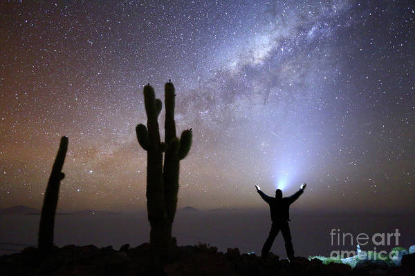 Photograph - Milky Way Worship  by James Brunker