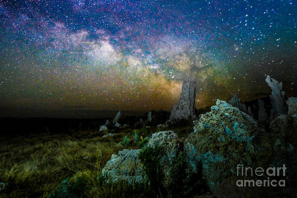 Photograph - Milkyway Over Mono Lake by Jim DeLillo