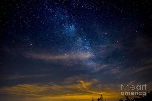 Photograph - Milkyway With Sky Glow by Jim DeLillo