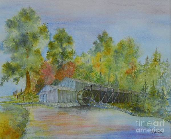 Wall Art - Painting - Mill At Mabry by Lisa Bell