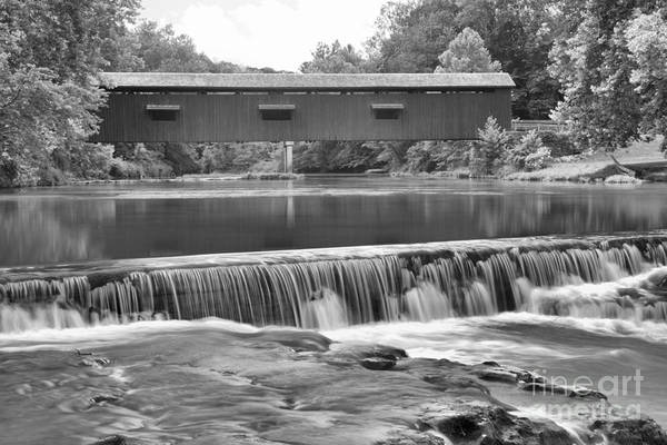 Photograph - Mill Creek Cataract Falls Black And White by Adam Jewell