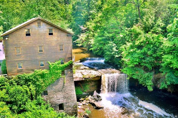 Photograph - Mill Creek Park Lanterman's Mill And Covered Bridge by Lisa Wooten