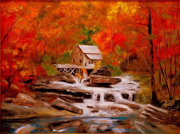 Painting - Mill Creek by Phil Burton