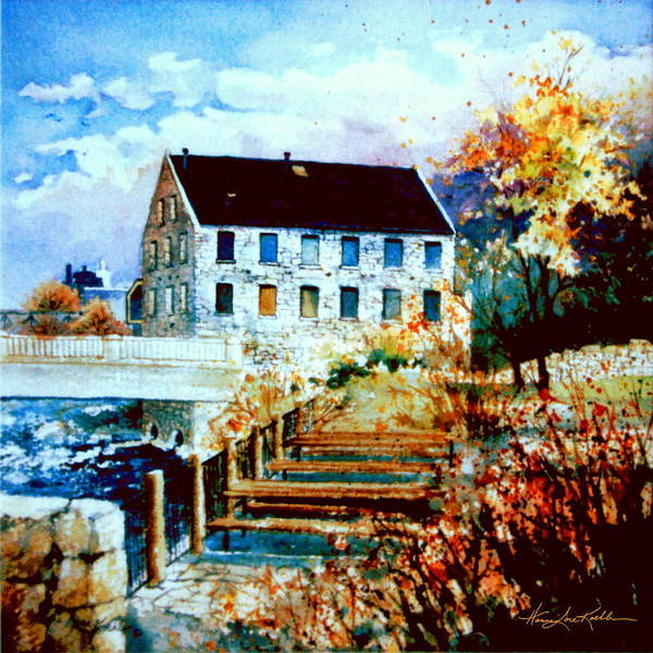 The Restaurant Painting - Mill Race Park by Hanne Lore Koehler