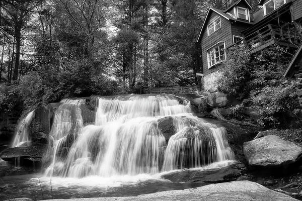Mill Shoals Falls Wall Art - Photograph - Mill Shoals Falls In Black And White by Jill Lang