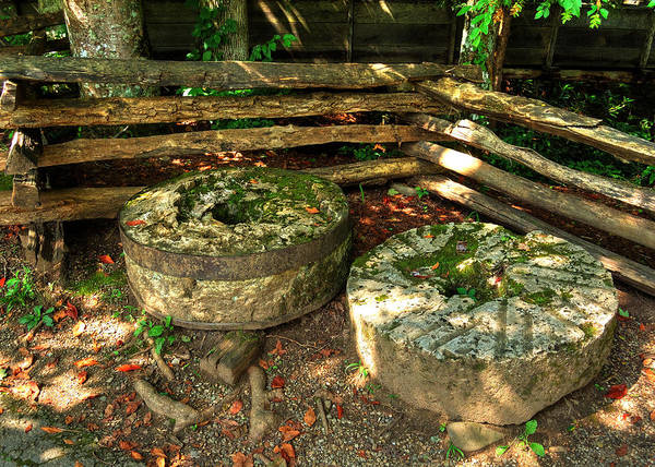 Millrace Wall Art - Photograph - Mill Stones by Darin Williams