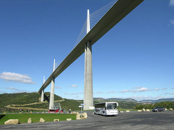Photograph - Millau Viaduct by Jim Mathis