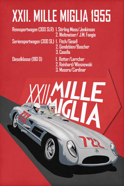 Wall Art - Photograph - Mille Miglia Xxii 1955 by Mark Rogan