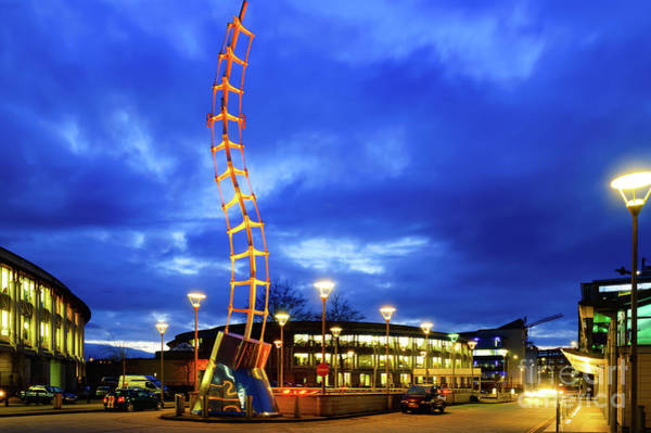 Photograph - Millenium Square, Bristol, At Night by Colin Rayner