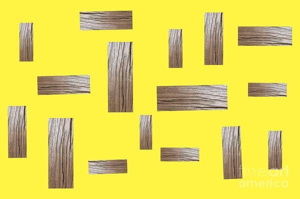 Digital Art - Millennial Yellow Abstract Horizontal  by Rachel Hannah