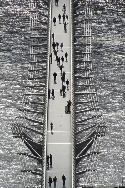 Bankside Photograph - Across The Millennium Bridge by Jackie Tweddle