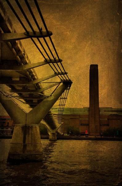 Bankside Photograph - Millennium Bridge London by Tim Kahane
