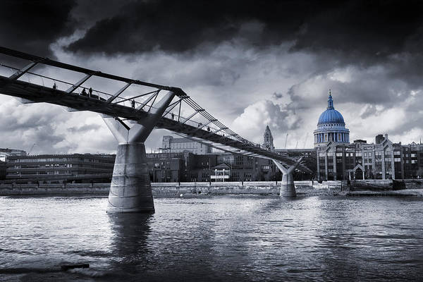 Tate Photograph - Millennium Bridge by MGL Meiklejohn Graphics Licensing
