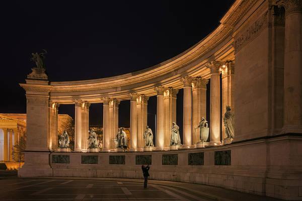 Photograph - Millennium Monument Colonnade Color by Joan Carroll