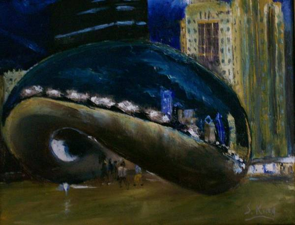 Stephen King Painting - Millennium Park - Chicago by Stephen King