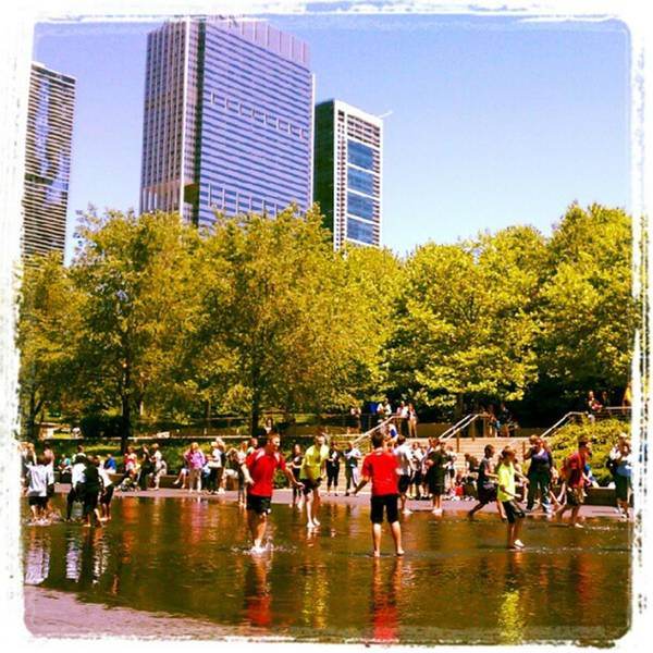 Photograph - Millennium Park Fountain Fun by Tammy Winand