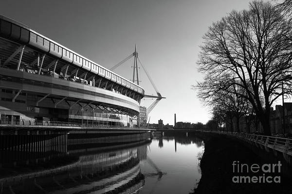 Photograph - Millennium Stadium And River Taff Cardiff by James Brunker