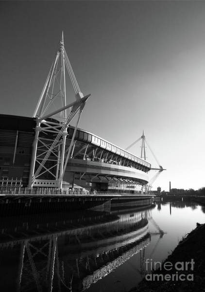 Photograph - Millennium Stadium And River Taff by James Brunker