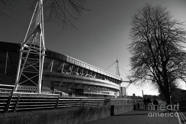 Photograph - Millennium Stadium Cardiff Wales by James Brunker