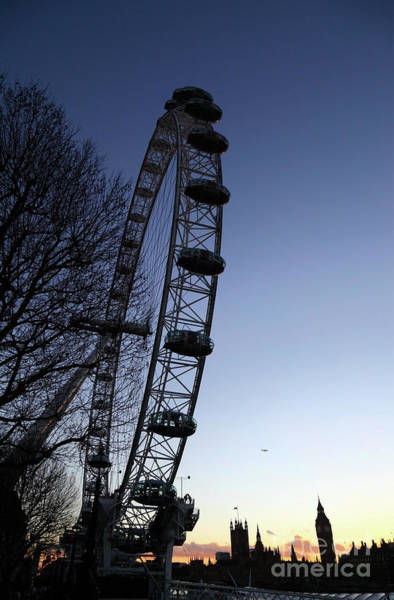 Photograph - Millennium Wheel And Houses Of Parliament At Sunset London by James Brunker