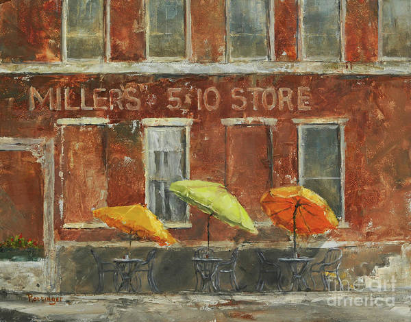 11x14 Painting - Miller's Five And Ten by Cindy Roesinger