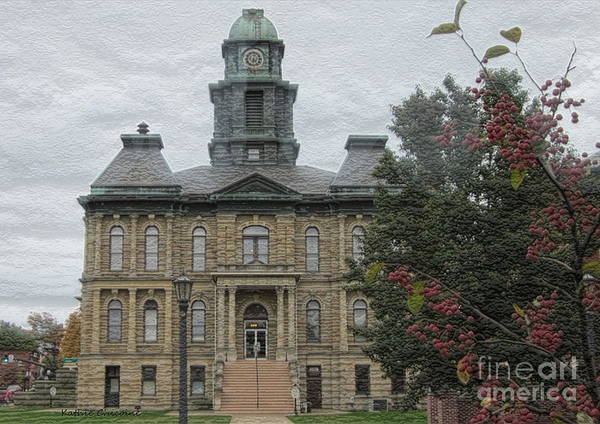 Photograph - Millersburg County Courthouse by Kathie Chicoine