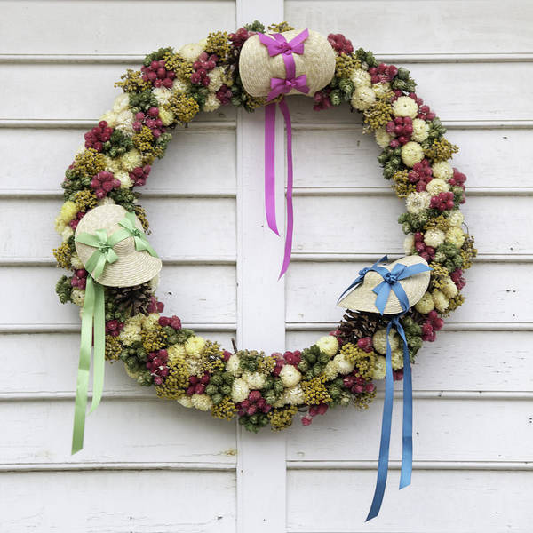 Millinery Photograph - Millinery Shop Wreath by Teresa Mucha