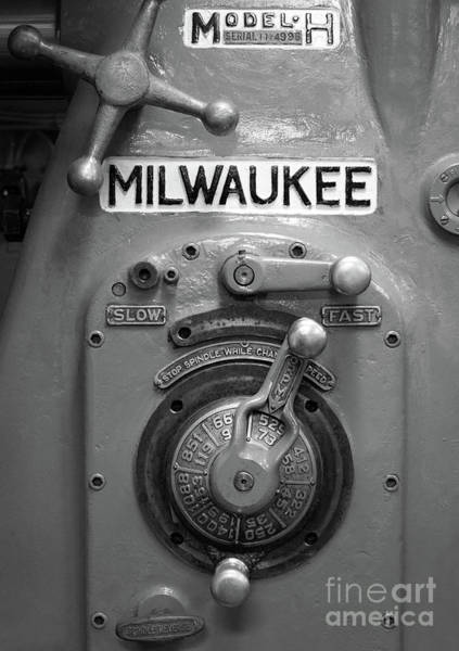 Photograph - Milling Machine, Uss Midway Museum, San Diego, Ca  -95061 by John Bald