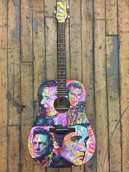 Wall Art - Sculpture - Million Dollar Quartet Guitar by Dean Russo Art