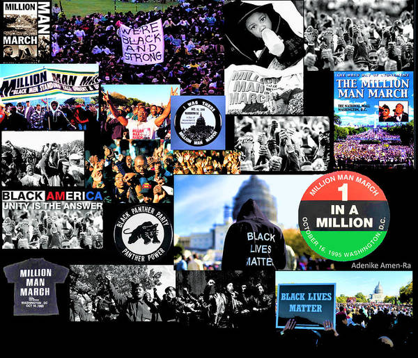 Million Man March Montage Art Print
