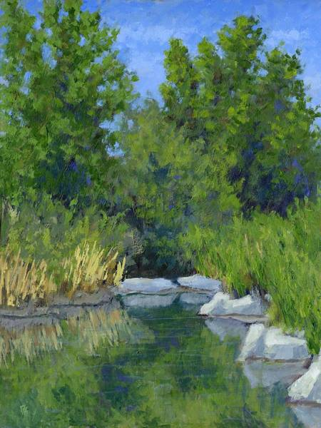 Millrace Wall Art - Painting - Millrace Pond by David King