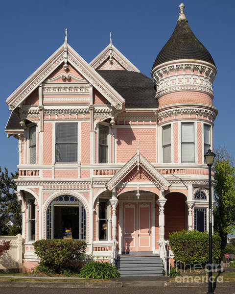 Photograph - Milton Carson Home Pink Lady Queen Anne Victorian Eureka California Dsc5409 by Wingsdomain Art and Photography