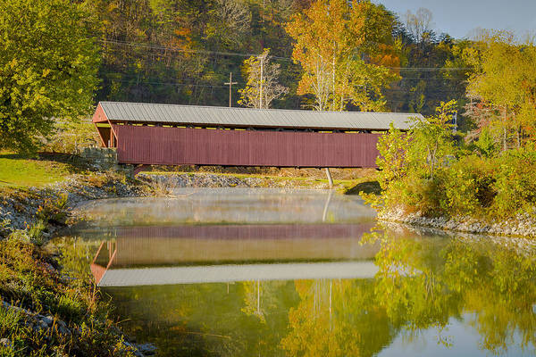 Photograph - Milton Or Sink's Mill Covered Bridge by Jack R Perry