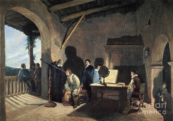 Photograph - Milton Visiting Galileo by Granger