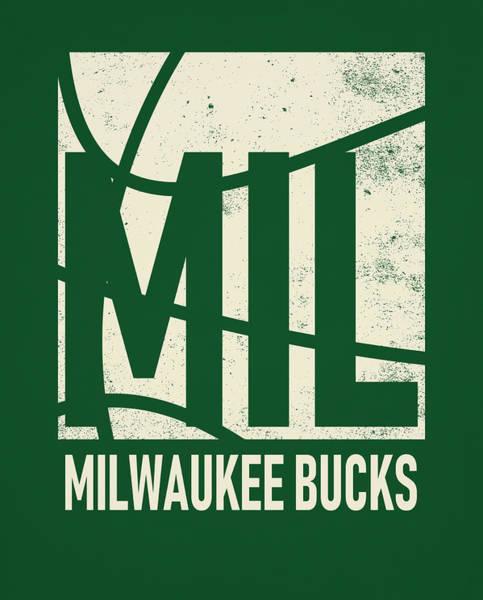 Vintage Poster Mixed Media - Milwauke Bucks City Poster Art by Joe Hamilton