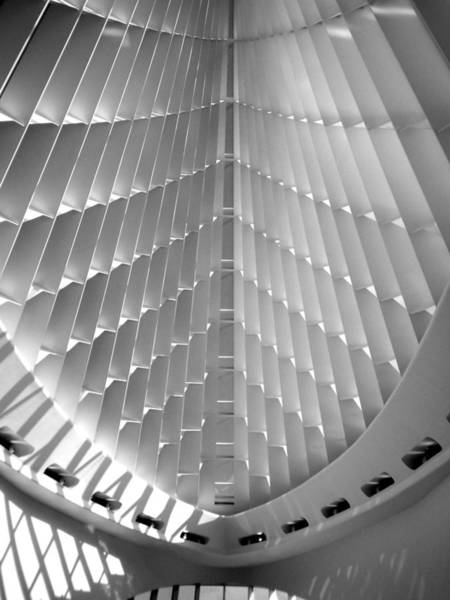 Comtemporary Photograph - Milwaukee Art Museum Interior B-w by Anita Burgermeister
