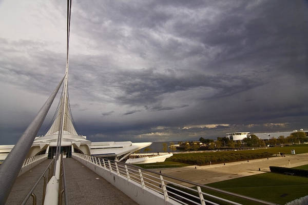 Photograph - Milwaukee Art Museum Ped Bridge by Sven Brogren