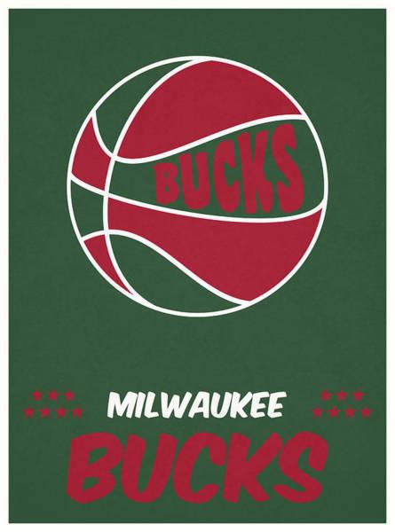 Wall Art - Mixed Media - Milwaukee Bucks Vintage Basketball Art by Joe Hamilton