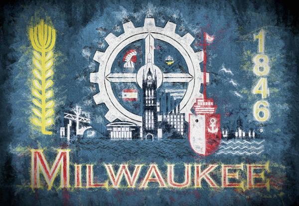 Wall Art - Digital Art - Milwaukee City Flag by JC Findley