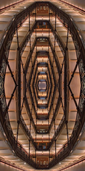 Wall Art - Photograph - Milwaukee City Halll Atrium by Scott Norris