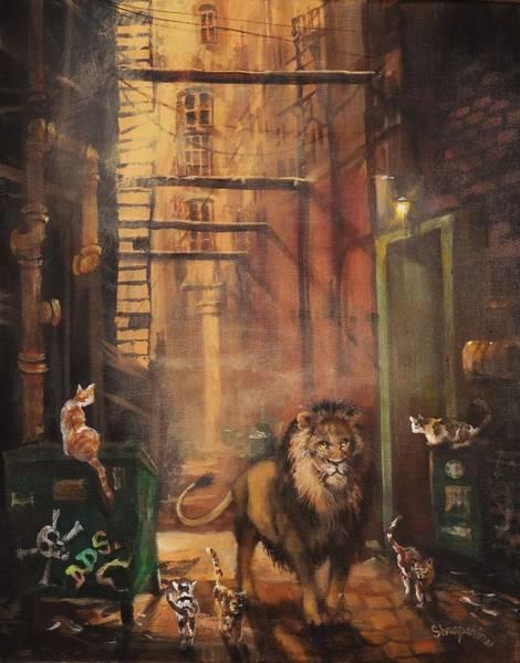 Wall Art - Painting - Milwaukee Lion by Tom Shropshire