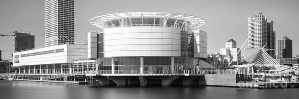 Milwaukee Art Museum Photograph - Milwaukee Panorama Picture In Black And White by Paul Velgos