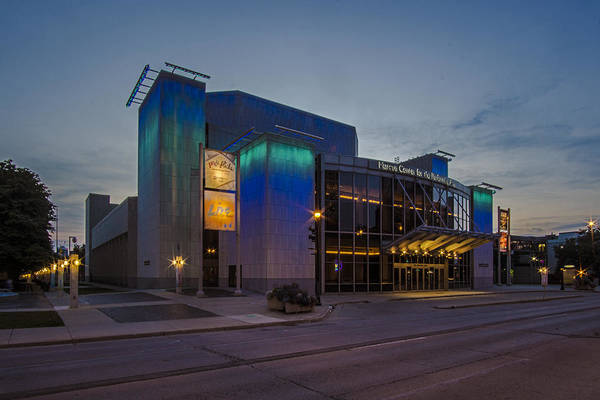 Photograph - Milwaukee Performing Arts Center At Dusk by Sven Brogren