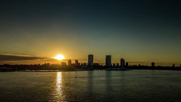 Photograph - Milwaukee Sunset by Randy Scherkenbach