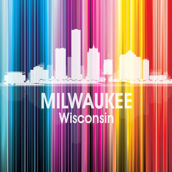 Digital Art - Milwaukee Wi 2 Squared by Angelina Tamez