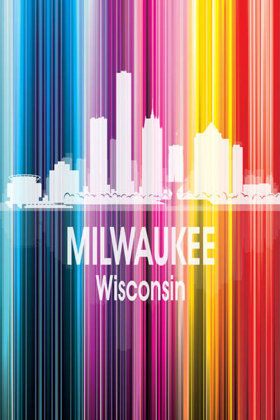 Wall Art - Digital Art - Milwaukee Wi 2 Vertical by Angelina Tamez